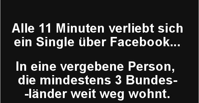 Alle 11 Minuten verliebt sich ein Single über Facebook