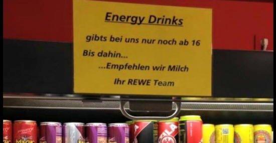 Energy drinks ab 16