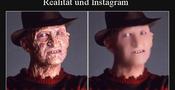 Realität und Instagram..   Lustige Bilder, Sprüche, Witze ...
