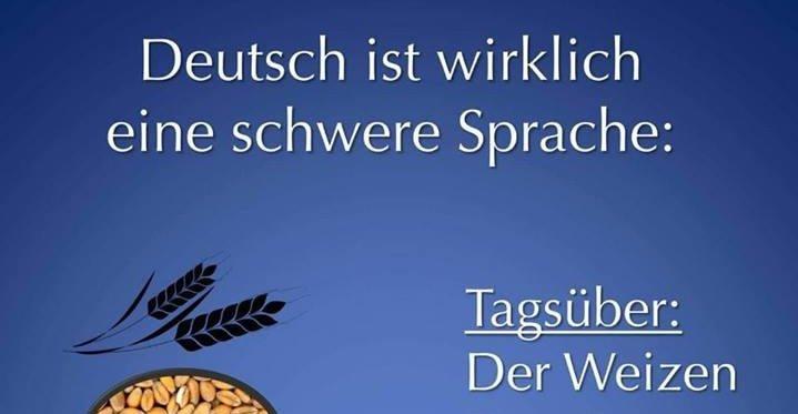 Deutsch ist wirklich eine schwere Sprache..   Lustige