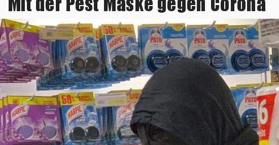 Mit der Pest Maske gegen Corona.. | Lustige Bilder ...
