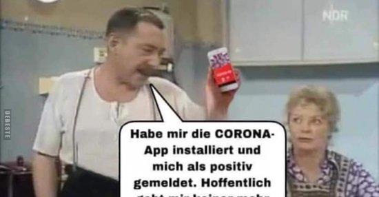 Habe mir die CORONA-App installiert und mich als positiv ...