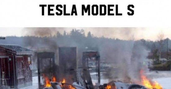 Tesla Model S Jetzt Auch Als Verbrenner Lustige Bilder Spruche Witze Echt Lustig