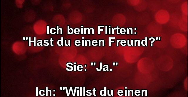 Freund will flirten