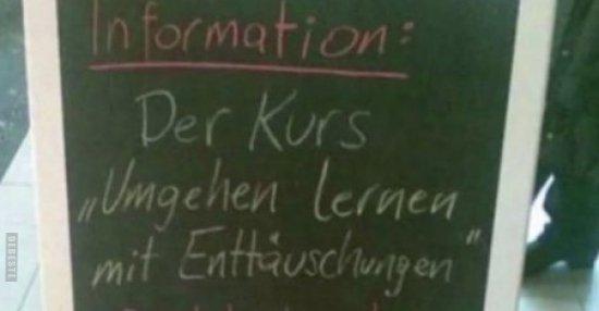 """information der kurs """"umgehen lernen mit enttäuschungen"""