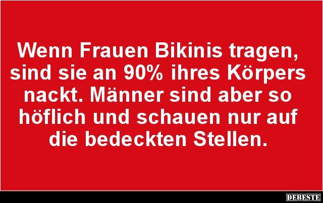 Beau Wenn Frauen Bikinis Tragen.