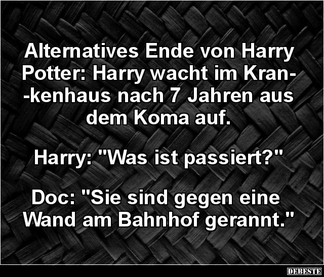 harry potter sprüche Alternatives Ende von Harry Potter.. | Lustige Bilder, Sprüche  harry potter sprüche