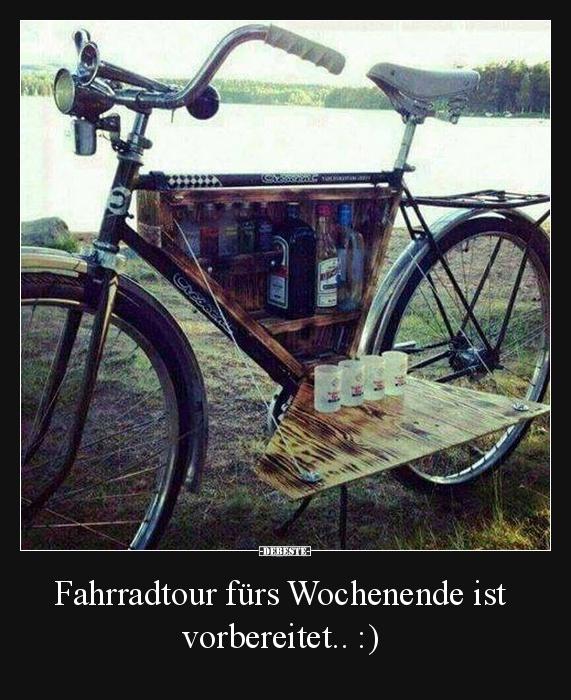Fahrradtour f rs wochenende ist vorbereitet lustige - Lustige bilder fa rs wochenende ...