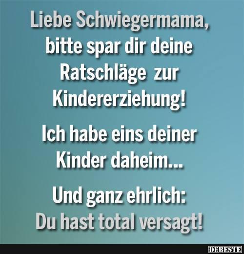 sprüche liebe lustig Liebe Schwiegermama.. | Lustige Bilder, Sprüche, Witze, echt lustig sprüche liebe lustig