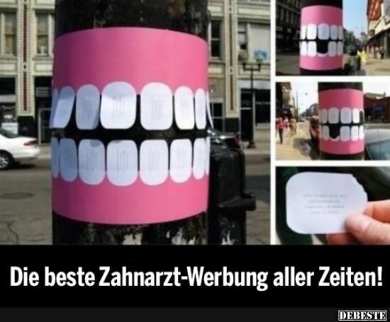Die beste Zahnarzt Werbung aller Zeiten! | Lustige Bilder, Sprüche