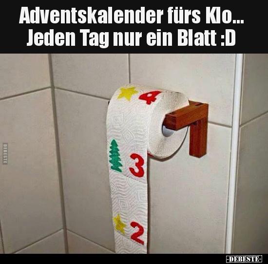 Adventskalender Fürs Klo Jeden Tag Nur Ein Blatt D