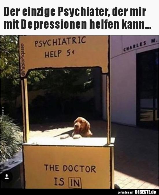 Der Einzige Psychiater Der Mir Mit Depressionen Helfen Lustige