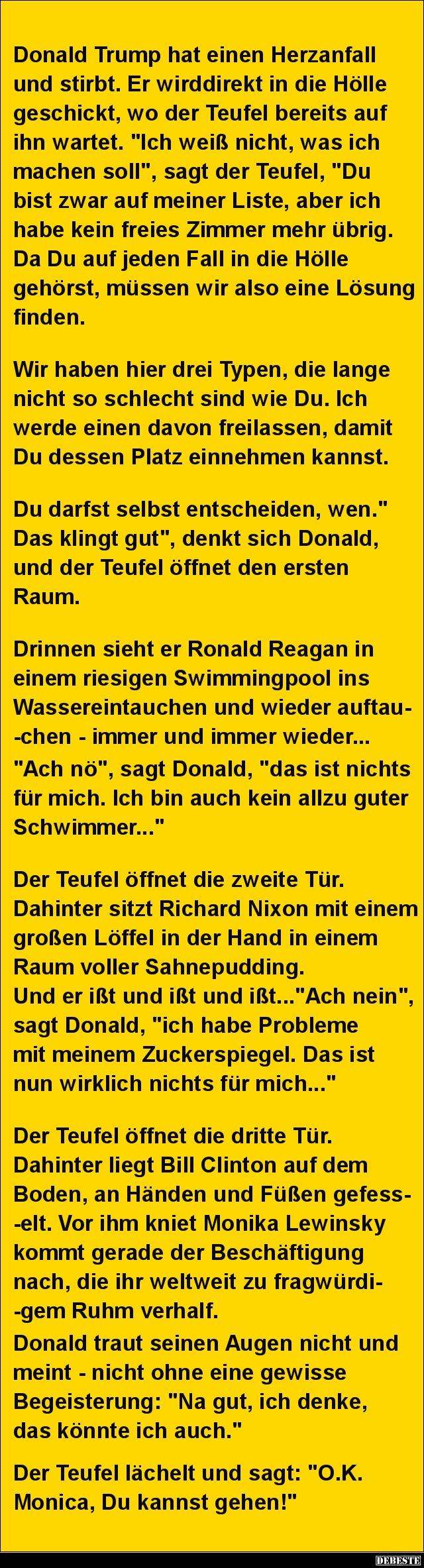 Donald trump hat einen herzanfall und stirbt lustige - Lustige bilder fa rs wochenende ...
