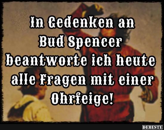 In Gedanken An Bud Spencer Beantworte Ich Lustige Bilder