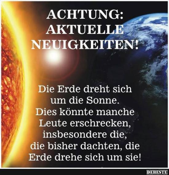 Die Sonne Spruche.Die Erde Dreht Sich Um Die Sonne Lustige Bilder Spruche