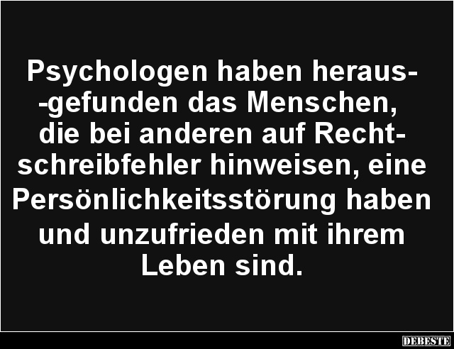 psychologie sprüche lustig
