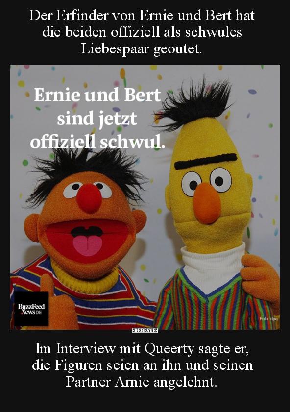 Der Erfinder von Ernie und Bert hat die beiden offiziell ...