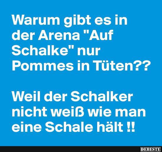 Elegant Warum Gibt Es In Der Arena U0027Auf Schalkeu0027 Nur Pommes In Tüten?
