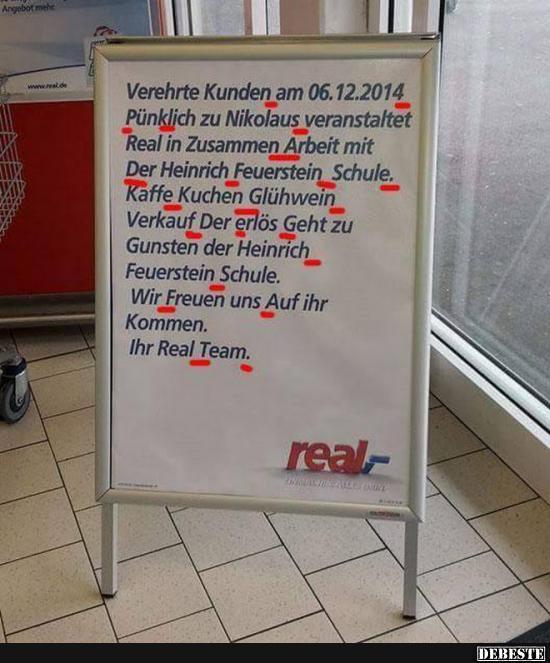 2014 Lustige Spruche.Verehrte Kunden Am 06 12 2014 Punklich Zu Nikolaus