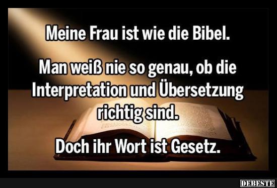 meine frau ist wie die bibel | lustige bilder, sprüche, witze