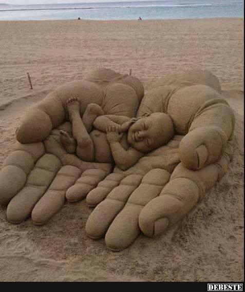Cool und alles aus Sand. | Lustige Bilder, Sprüche, Witze, echt lustig