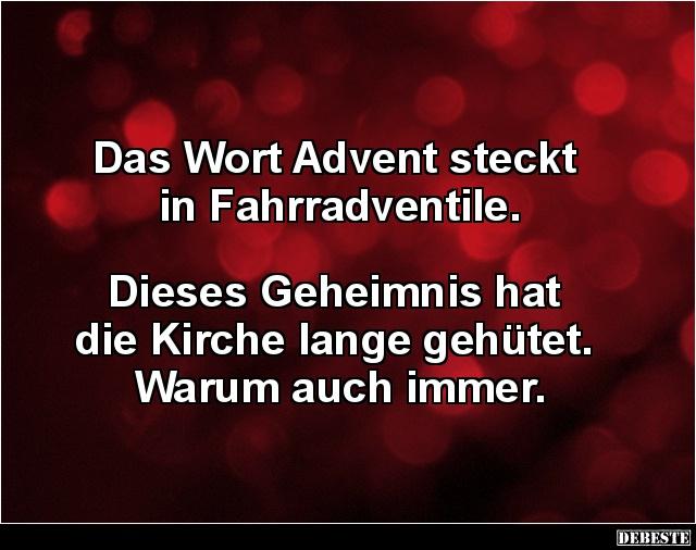 Lustige Bilder Advent.Das Wort Advent Steckt In Fahrradventile Lustige Bilder