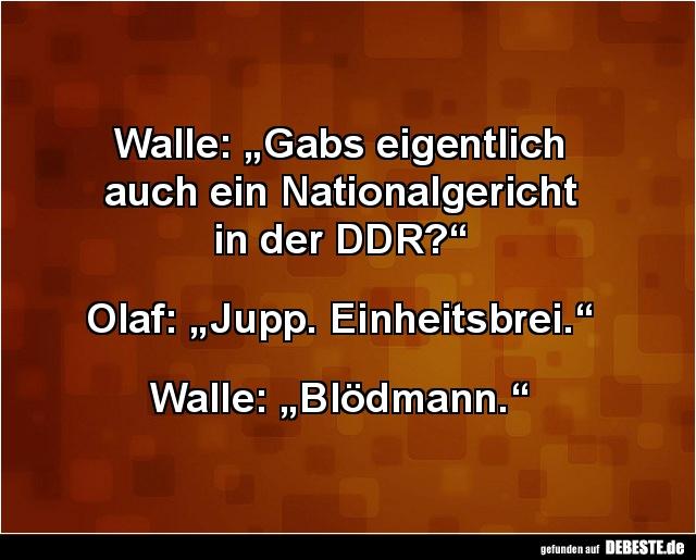"""ddr sprüche Walle: """"Gabs eigentlich auch ein Nationalgericht in der DDR  ddr sprüche"""