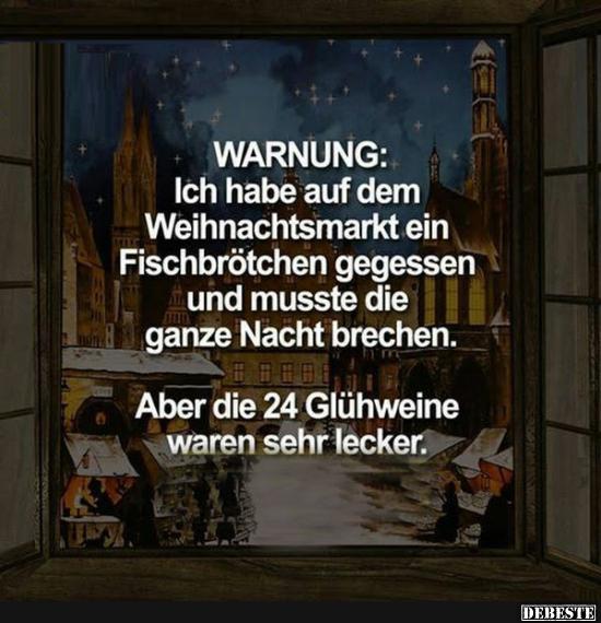 Warnung Ich Habe Auf Dem Weihnachtsmarkt Ein Fischbrötchen