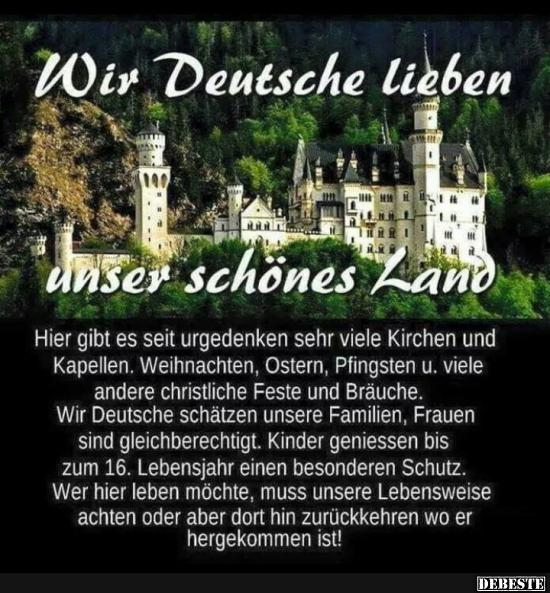Wir Deutsche Lieben Unser Schönes Land Lustige Bilder Sprüche