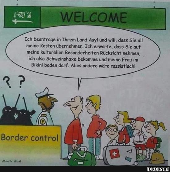Lustige Asylanten Bilder