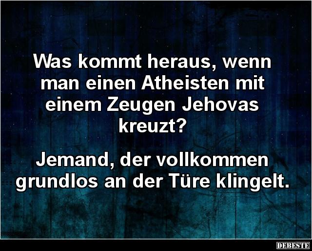 atheisten sprüche Was kommt heraus, wenn man einen Atheisten mit.. | Lustige Bilder  atheisten sprüche
