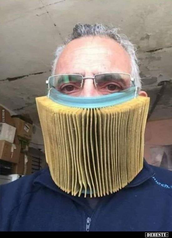 Schutzmaske Lustig