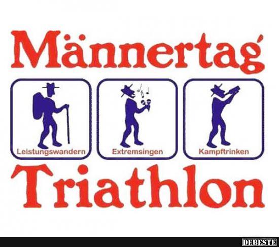 Männertag Triatlhlon.. | Lustige Bilder, Sprüche, Witze, echt lustig