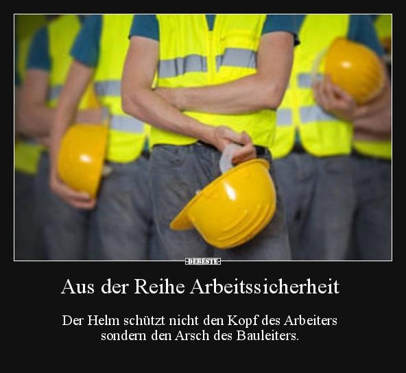Aus Der Reihe Arbeitssicherheit Der Helm Schutzt Nicht Den