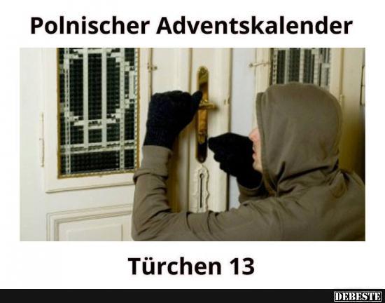 Polnischer Adventskalender | Lustige Bilder, Sprüche