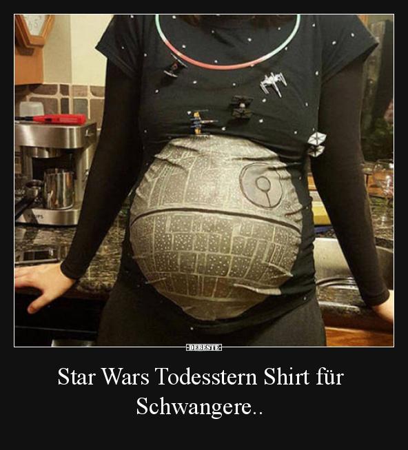star wars todesstern shirt f r schwangere lustige. Black Bedroom Furniture Sets. Home Design Ideas