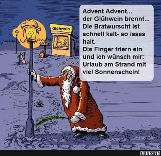 Advent Advent.. der Glühwein brennt.. | Lustige Bilder ...