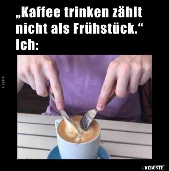 Kaffee trinken lustig