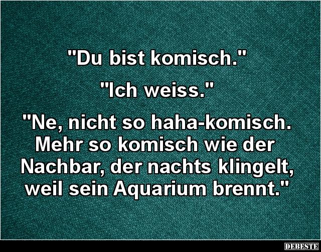 U0027Du Bist Komisch.u0027.. U0027Ich Weiss...u0027