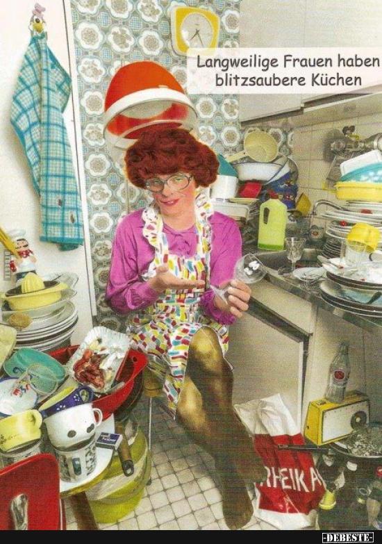 Langweilige Frauen Haben Blitzsaubere Kuchen Lustige