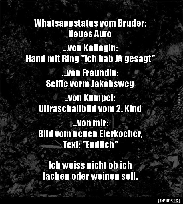 Whatsappstatus Vom Bruder Neues Auto Von Lustige