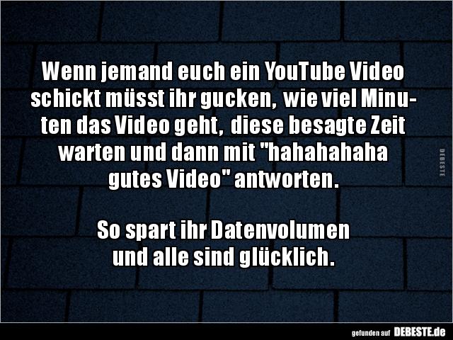 Wenn Jemand Euch Ein Youtube Video Schickt Musst Ihr Lustige