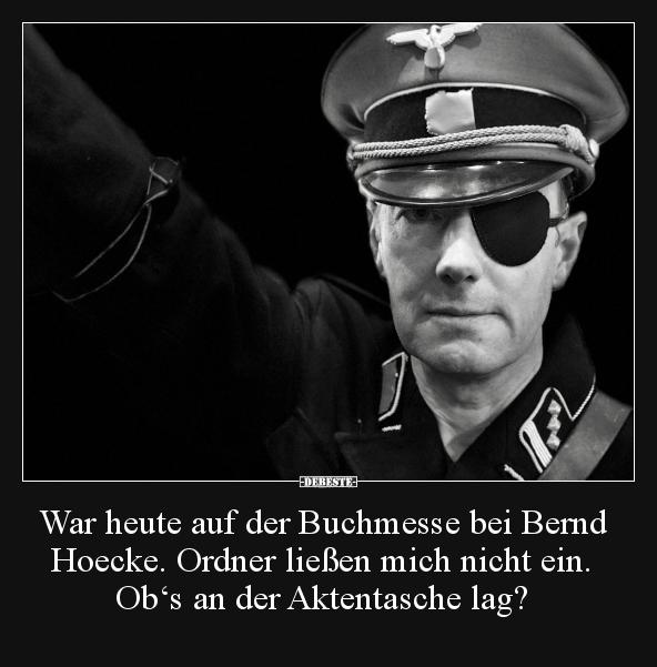 War Heute Auf Der Buchmesse Bei Bernd Hoecke Ordner Lustige