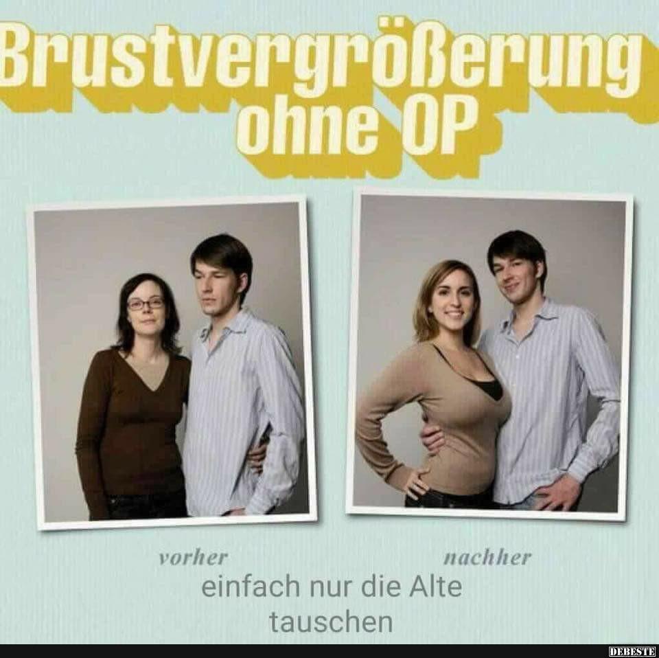 Brustvergrößerung ohne OP..   Lustige Bilder, Sprüche, Witze, echt ...