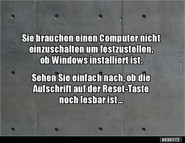 Sie brauchen einen Computer nicht einzuschalten um.. | Lustige
