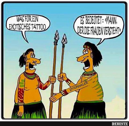 Was Fur Ein Exotisches Tattoo Lustige Bilder Spruche Witze