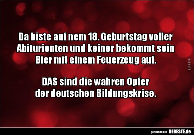 Da Biste Auf Nem 18 Geburtstag Voller Abiturienten Und Lustige