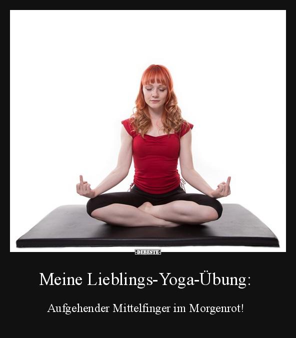 Meine Lieblings Yoga Ubung Lustige Bilder Spruche Witze Echt
