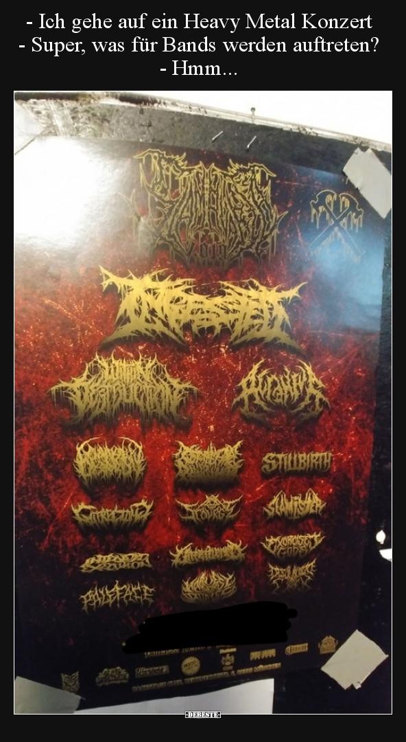 Ich Gehe Auf Ein Heavy Metal Konzert Lustige Bilder Spruche