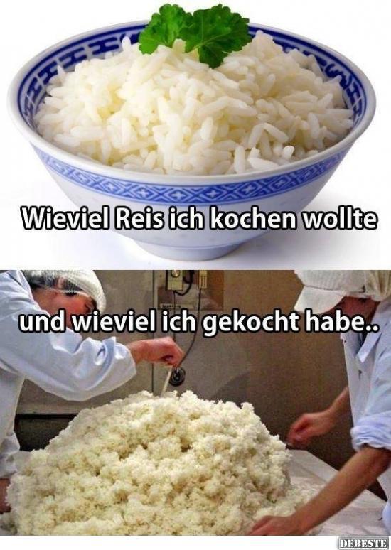 Mein problem beim reis kochen lustige bilder spr che - Reis in der mikrowelle kochen ...